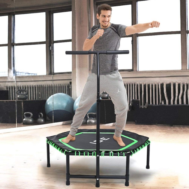 ISE Fitness Trampolin, leise...